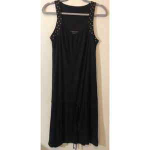 BCBG Maxazria Small Black tank studded dress/swim